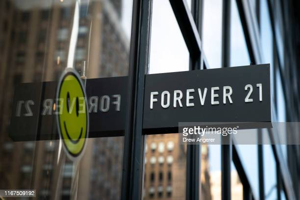 Forever 21 store stands in Herald Square in Manhattan on September 12, 2019 in New York City. The Wall Street Journal reported that the retail chain...