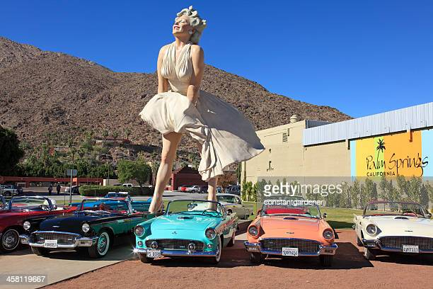forever marilyn a palm springs icon and tourist attraction - palm springs california stock pictures, royalty-free photos & images