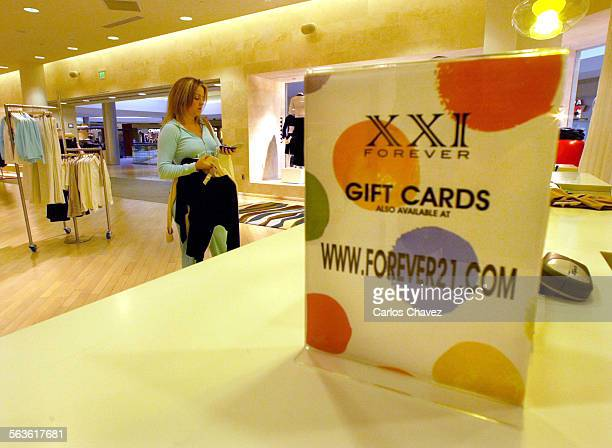 XXI Forever womens clothing store in the Beverly Center in Beverly Hills has much seccess with Internet gift coupons Near every resiter in the store...