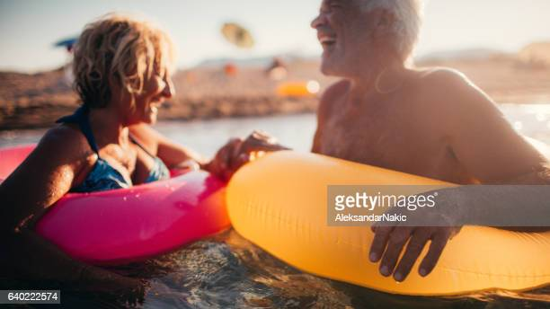 forever young! - active senior stock photos and pictures
