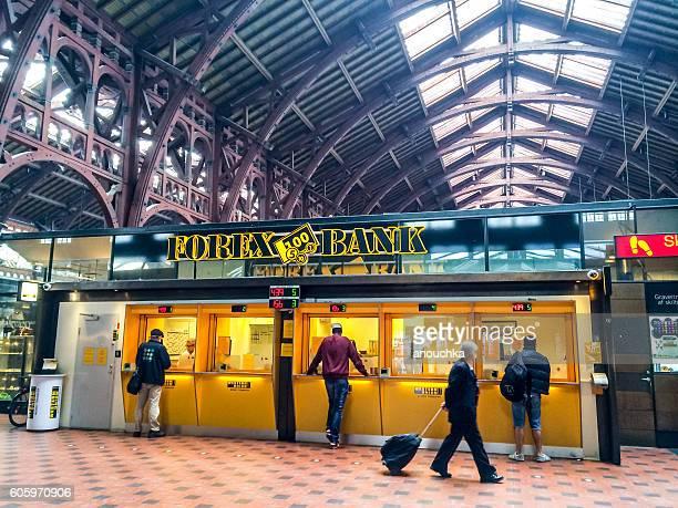 Forex Bank at Copenhagen Central  Station, Denmark