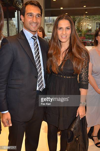Forges CEO Yohann Uzan and actress Elisa Tovati attend the Forges Reopening Cocktail at Forges Wagram Jewell Shop on June 14 2011 in Paris France