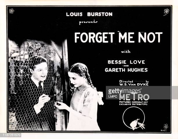 Forget Me Not lobbycard from left Gareth Hughes Bessie Love 1922