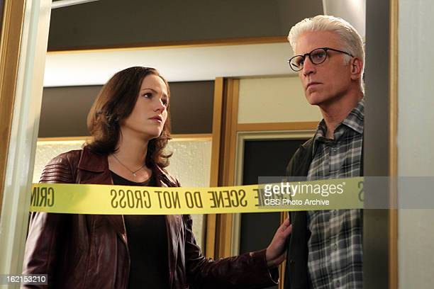 "Forget Me Not"" -- Sara Grissom and D.B. Russell don't look too good at the crime scene, on CSI: CRIME SCENE INVESTIGATION, Wednesday, Feb. 20 on the..."