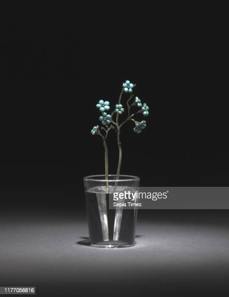 ForgetMeNots late 1800searly 1900s Firm of Peter Carl Faberge Turquoise diamonds rock crystal silver gilt overall 89 x 31 cm
