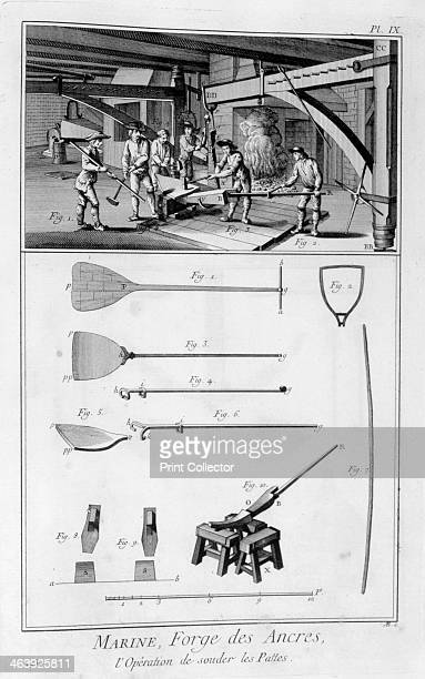 Forging an anchor 17511777 A print from the Encyclopédie ou Dictionnaire Raisonné des Sciences des Arts et des Métiers by Diderot d'Alembert 17511777...