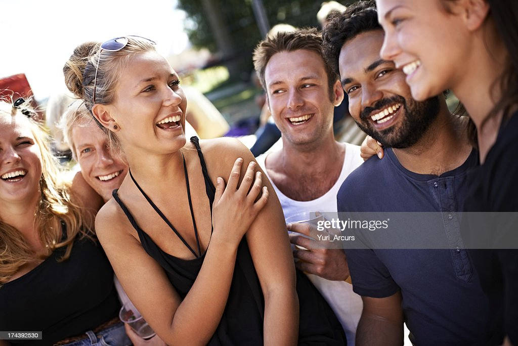 Forging fabulous friendships : Stock Photo