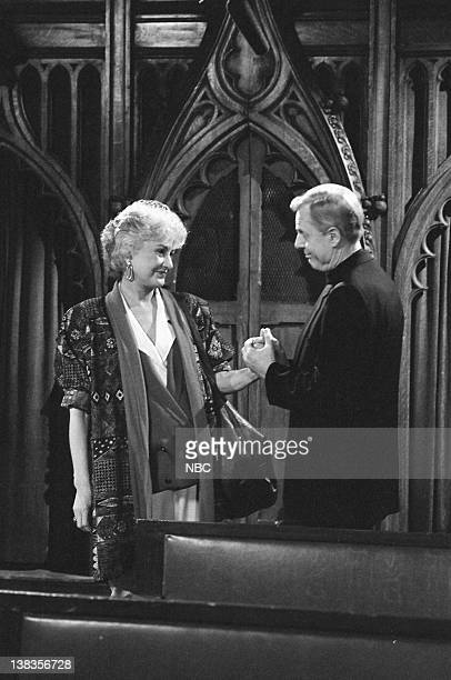 GIRLS 'Forgive Me Father' Episode 18 Pictured Bea Arthur as Dorothy Petrillo Zbornak John McMartin as Father Frank Leahy