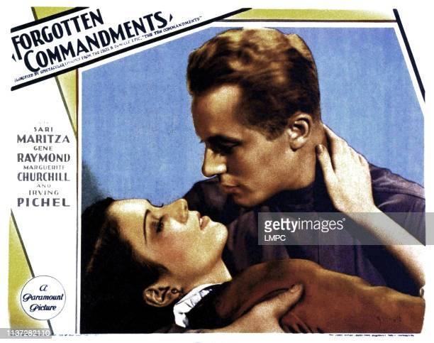 Forgotten Commandments lobbycard from left Marguerite Churchill Gene Raymond 1932