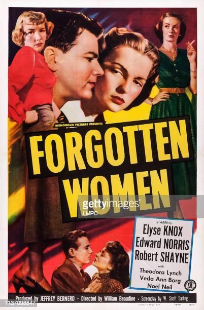 Forgotten Women, poster, US poster art, Veda Ann Borg, Warren Douglas, Elyse Knox, Noel Neill, 1949.