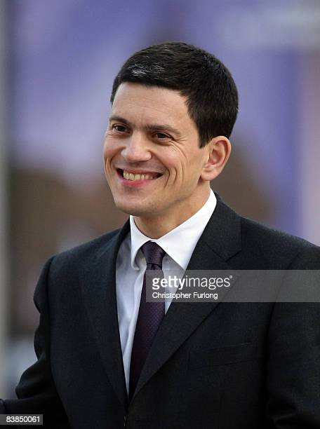 Foriegn Secretary David Milliband arrives for the weekly Cabinet meeting at the Royal Armouries on November 28 Leeds England The government held it's...