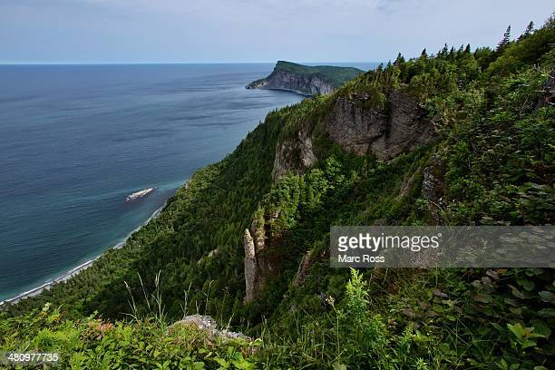 forillon, gaspésie - forillon national park stock pictures, royalty-free photos & images