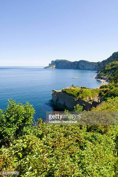 forillon peninsula in forillon national park - forillon national park stock pictures, royalty-free photos & images