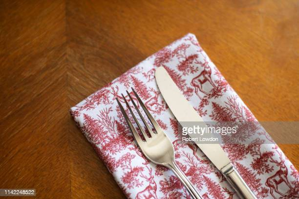 fork and knife - utensil stock pictures, royalty-free photos & images