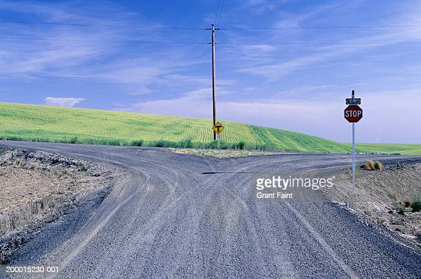 fork in country road - fork stock pictures, royalty-free photos & images