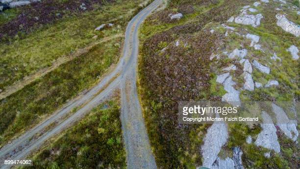 fork in the road - forked road stock pictures, royalty-free photos & images
