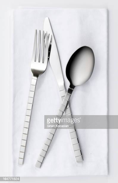 Fork, knife and spoon set