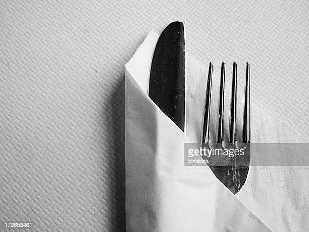 フォーク、ナイフ、ナプキン