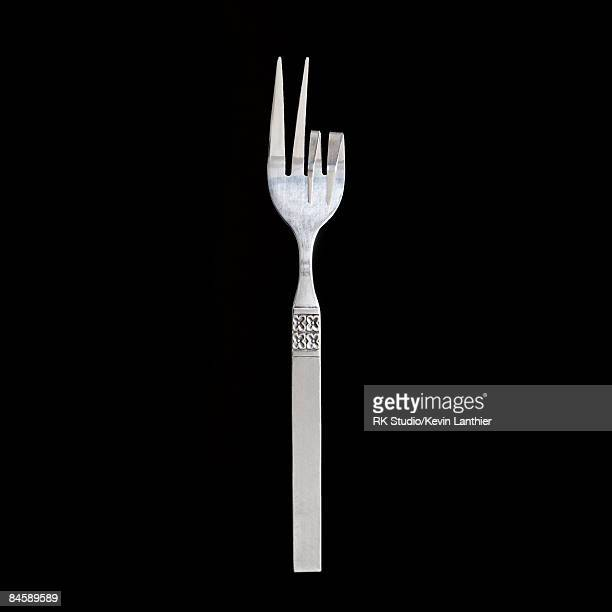 Fork making the 'peace' sign.