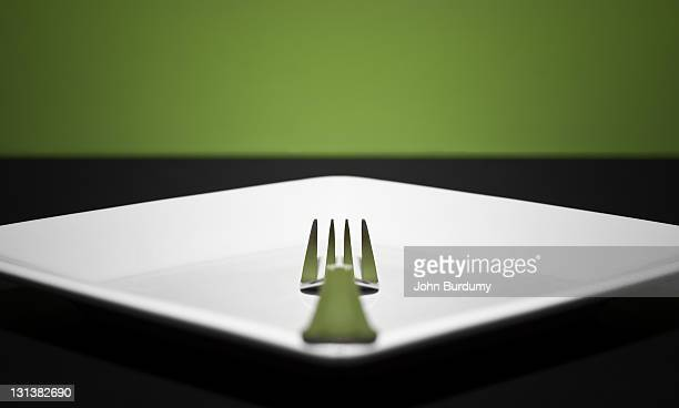 Fork on plate