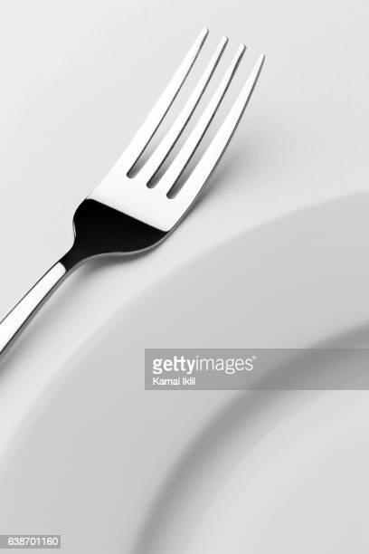 Fork with empty plate