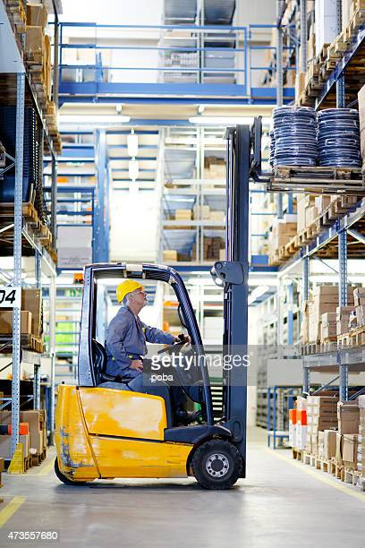 forklift operator at warehouse Loading