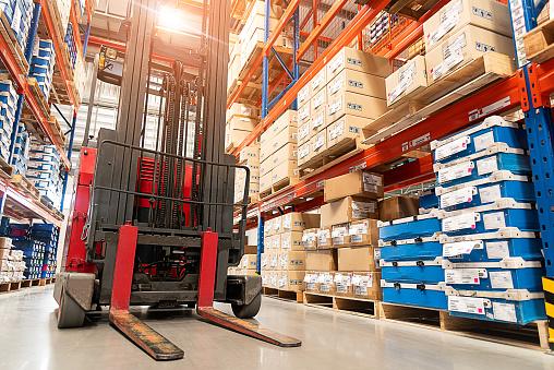 Forklift truck loader. 1138429582