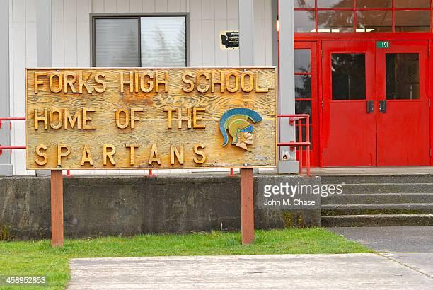 forks high school - estado de washington - fotografias e filmes do acervo