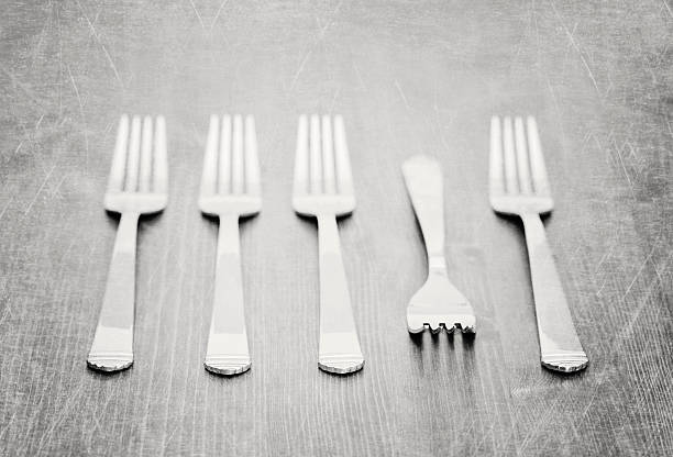 Forks on tabletop