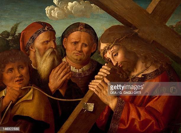 Forlì Pinacoteca Civica Way to Calvary by Marco Palmezzano tempera on wood