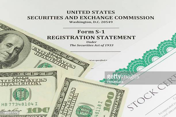 sec form s-1 (ipo concept) - initial public offering stock pictures, royalty-free photos & images