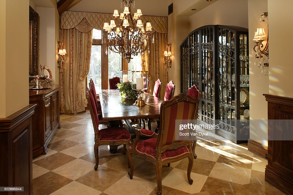 Formal Dining Room With Tiled Floor