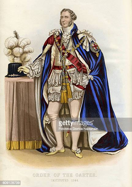 Formal dress of the Knight of the Order of the garter Honi Soit Qui Mal Y Pense It is the motto of the British chivalric Order of the Garter founded...