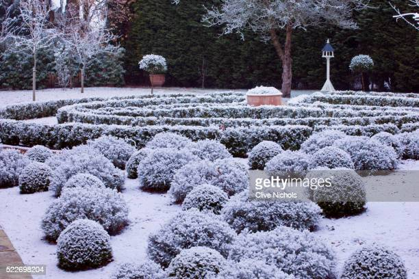 Formal Garden in Snow
