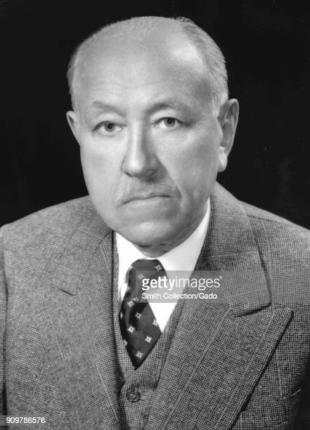 Formal headshot/portrait photograph of Dr Frederick S McKay the Colorado dentist who discovered the connection between fluoride and tooth decay which...