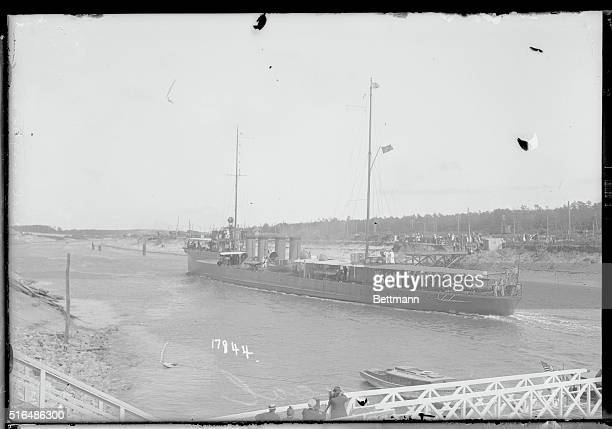 Formal opening of the Cape Cod Canal Mass USS McDougal