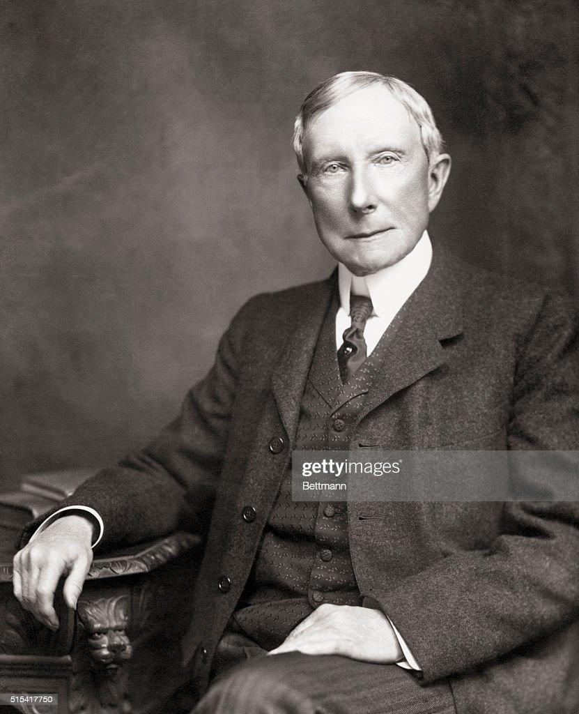 Industrialist John D. Rockefeller : ニュース写真