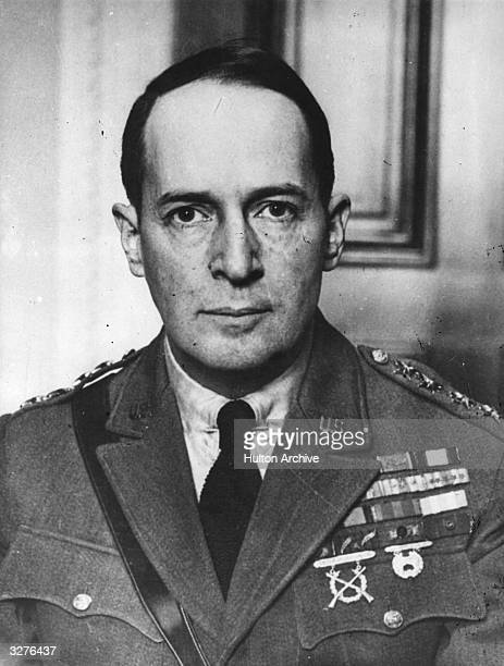 A formal photograph of Lt General Douglas MacArthur who was in command of the US Land and Air Forces in the Philippines