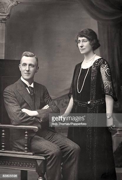 Formal portrait of a couple in Leamington Spa, circa 1910. .