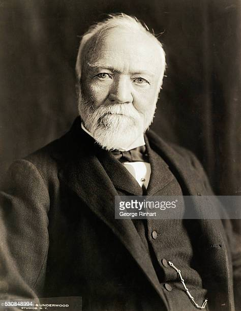 Formal portrait of Andrew Carnegie businessman and philanthropist