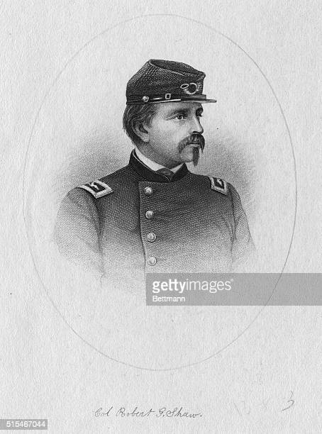 A formal portrait of Colonel Robert Gould Shaw in his uniform 18371863 American soldier he was born in Boston and Commissioned April 18663 as colonel...