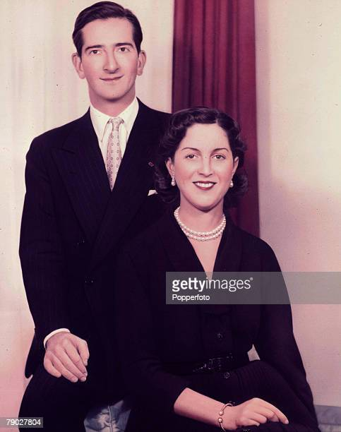 1955 A formal portrait of King Peter and Queen Alexandra of Yugoslavia