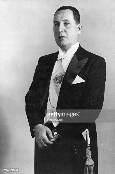 Formal portrait of President of Argentina Juan D Peron Buenos Aires Argentina 1951