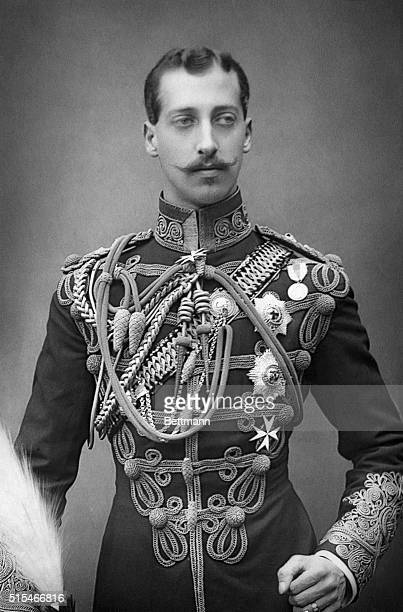 Formal portrait of the Duke of Clarence and Avoldale elder son of Edward VII Prince Albert Victor Christian 'Eddie' Undated photograph