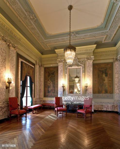 formal reception room - herringbone floor stock photos and pictures