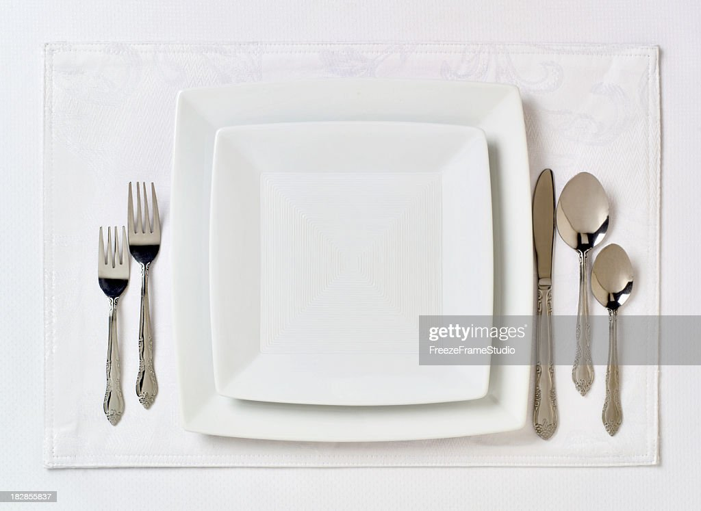 Formal table place setting 2 & Place Setting Stock Photos and Pictures   Getty Images