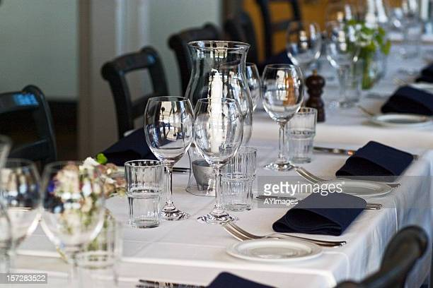 Formal table set for lunch