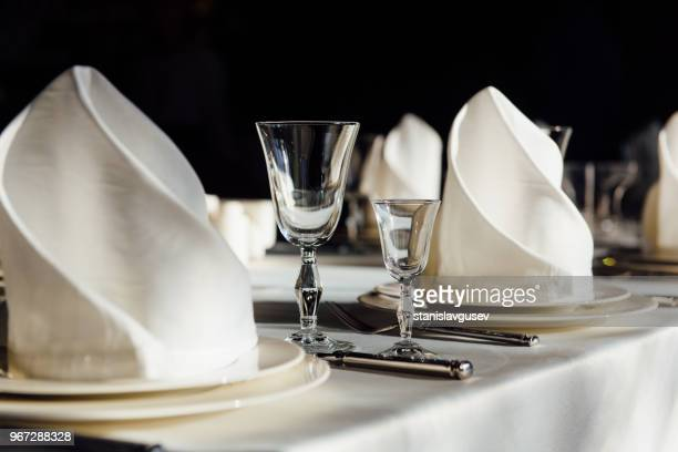 formal table setting - place setting stock pictures, royalty-free photos & images
