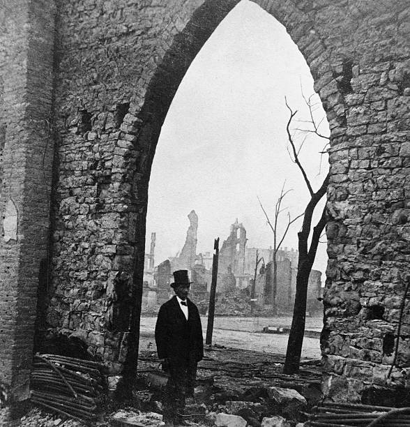 Stone Arch Of Church After Chicago Fire, 1871. Wall Art