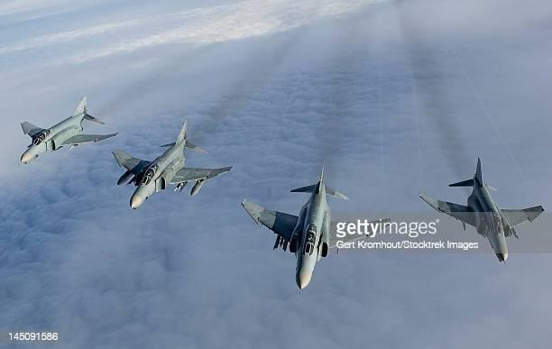 Formation of Luftwaffe F-4F Phantom II's.